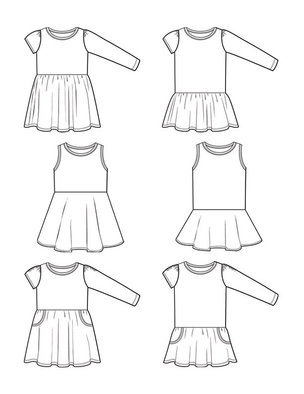 Nav in addition A Coat Sew Along Anyone also Technical Drawings Or Flats moreover Collectionpdwn Pleated Skirt Technical Drawing moreover Ari Tshirt Dress Pdf Pattern. on skirt technical drawing of circle