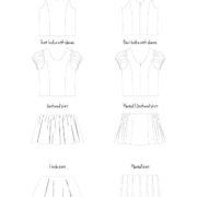 Pippa Dress line drawings