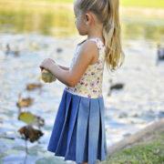 Pippa Dress pleated skirt
