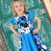 Pippa Dress puff sleeve circle skirt