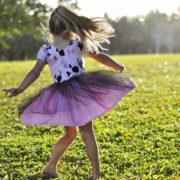 Pippa Dress puff sleeve gathered skirt