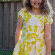 Pippa Dress puff sleeves
