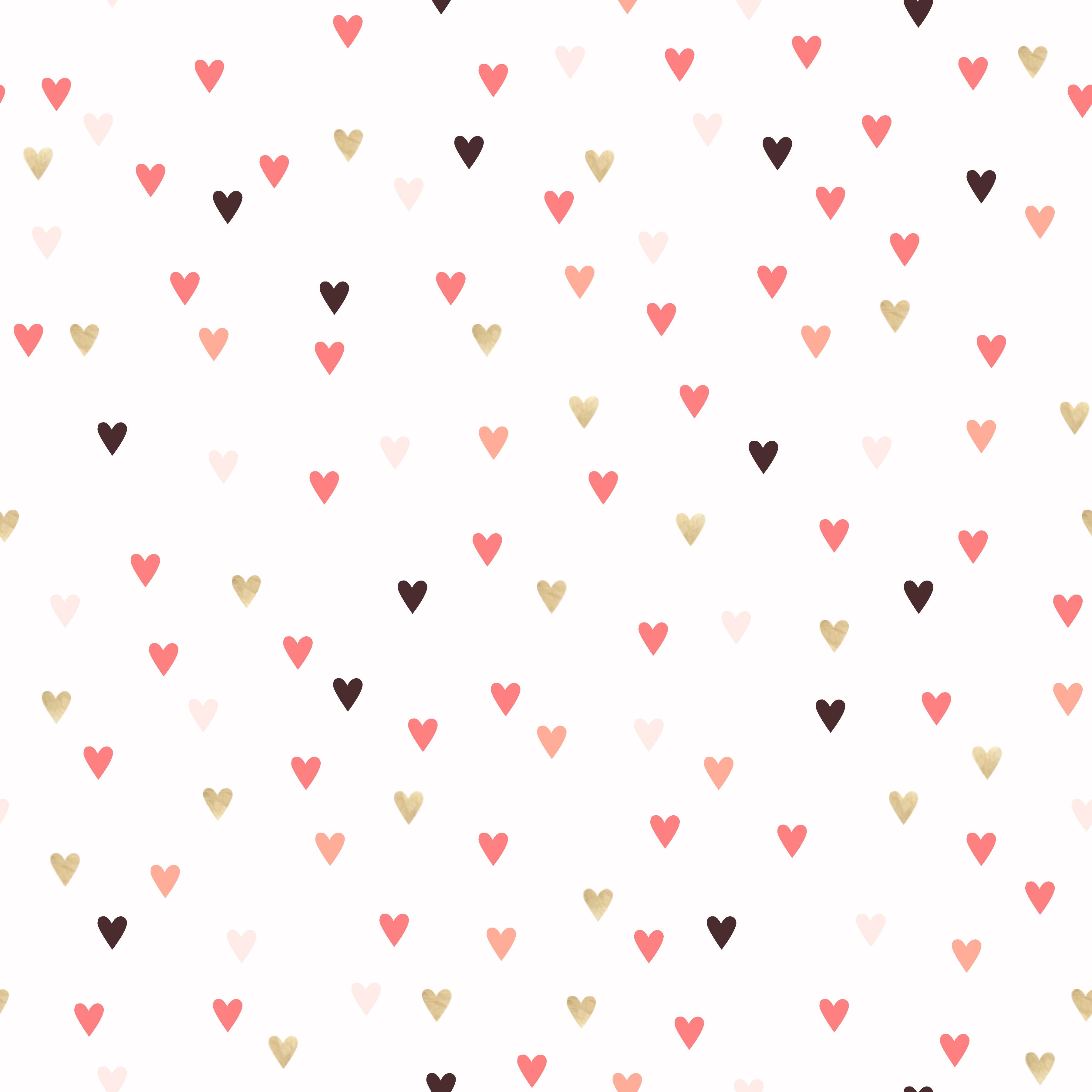 Hearts White Pink