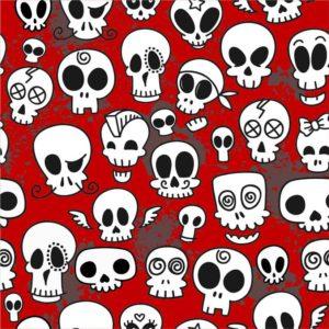 Skulls red white